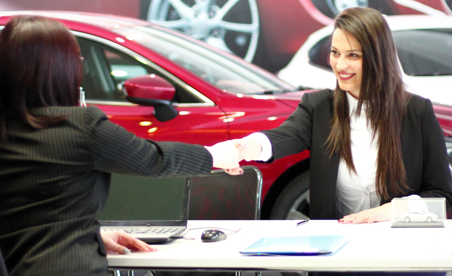 Business meeting-buying cars dealership
